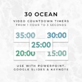 30 OCEAN Video Countdown Timers - For PowerPoint, Google S