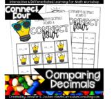 Connect Four Comparing Decimals Game   TEKS 4.2f   TEKS 5.2b