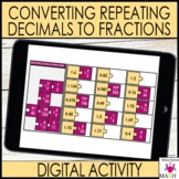Repeating Decimals To Fractions Activity for Google Slides