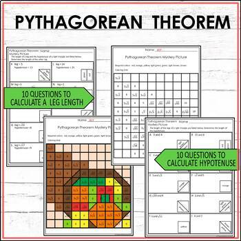 Thanksgiving Math Activity Mystery Picture - Pythagorean Theorem