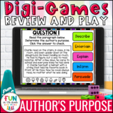 Author's Purpose Digital Review Activity | Distance Learning