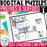 Prefix & Suffix Digital Puzzles | Prefix & Suffix Activity
