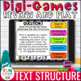 Text Structure Digital Review Activity   Text Structure Ga