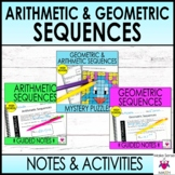 Arithmetic and Geometric Sequences Notes and Activities