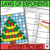 Christmas Math Activity Worksheets - Laws of Exponents