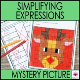 Christmas Math Activity Worksheets - Simplifying Expressions