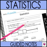 Statistics Guided Notes for 6th Grade Math