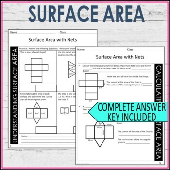 Surface Area with Nets Guided Notes