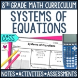 Systems of Equations Notes and Activities Unit Bundle