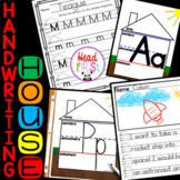 Handwriting House Mats, Cards, and Practice Sheets Back to School BUNDLE