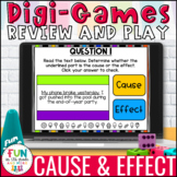 Cause & Effect Digital Review Activity | Distance Learning