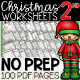 2nd Grade Christmas Math & Literacy Worksheets: 100 Page Review Bundle