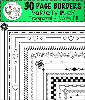 30 Page Borders - Variety Pack!