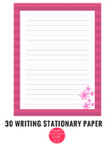 30 Pages Writing Paper Template Writing Stationary