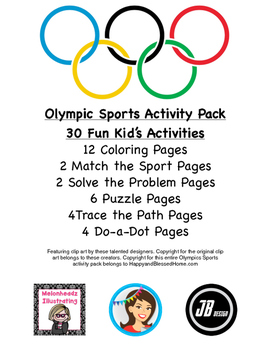 30 Pages of Olympic Activities for Kids