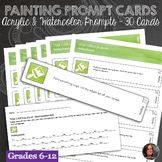 30 Painting Prompt Task Cards for Acrylic & Watercolor wit