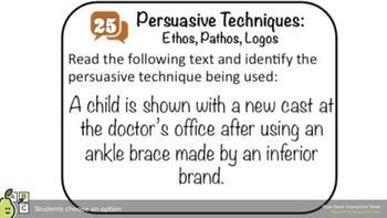 30 Persuasive Techniques DIGITAL Task Cards | Google Form & Pear Deck Versions