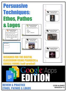 36 Persuasive Techniques DIGITAL Tasks   Google Form & Pear Deck Integration