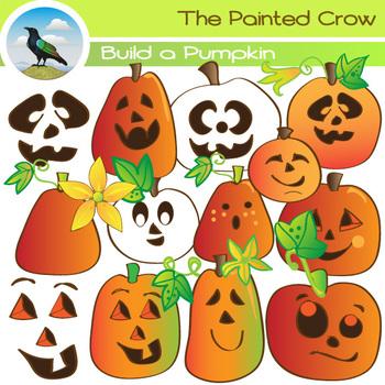 9541cfa6e 40 Piece Build a Pumpkin Clipart Set. Jack-o'-lantern Halloween Clipart