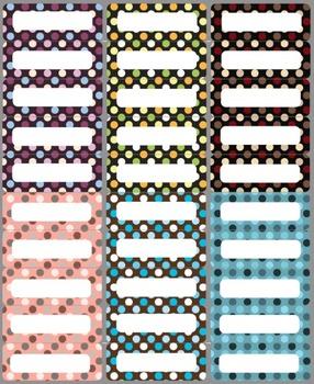 30 Polka Dot Labels