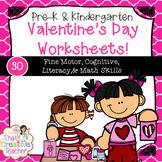 30 Pre-K & Kindergarten Valentine's Day Worksheets