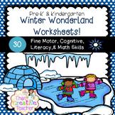 30 Pre-K & Kindergarten Winter Worksheets