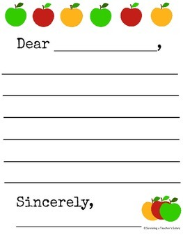 30 Primary Writing Letter Template Printable Pack for Writing