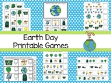 30 Printable Earth Day themed Preschool Learning Games Download. ZIP file.