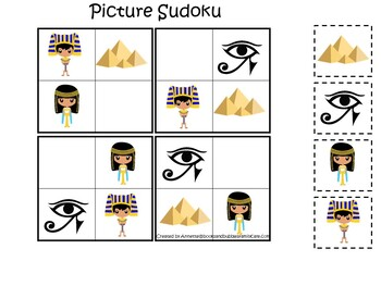 30 Printable Egypt themed Preschool Learning Games Download. ZIP file.