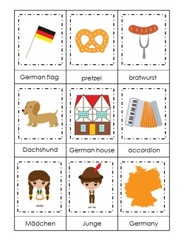 30 Printable Germany themed Preschool Learning Games Download. ZIP file.