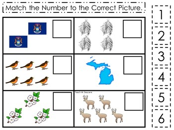30 Printable Michigan State Symbols themed Learning Games Download. ZIP fi