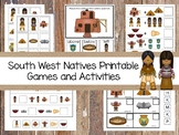 30 Printable South West Natives themed Preschool Games Download. ZIP file.
