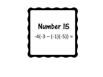 30 Problems Integers All Operations-Powerpoint Slides-7th Grade Math