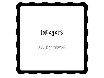 30 Problems Integers All Operations-Powerpoint Slides-7th