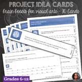30 Project Idea Prompts Task Cards with Completion Sheet