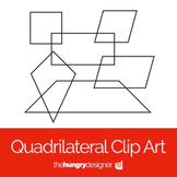 30 Quadrilateral Clip Art Shapes {The Hungry Designer}