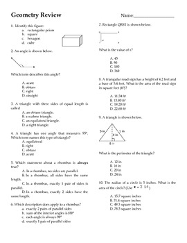 30 Question Geometry Review