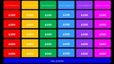30-Question Jeopardy Review Game Template