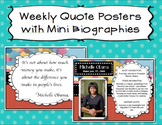 30 Quotes with Author Mini Biography Page