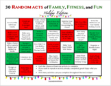 30 RANDOM ACTS OF FAMILY, FRIENDS, AND FUN! - Holiday Edition