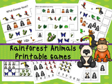 30 Rainforest Animals Games Download. Games and Activities in PDF files.