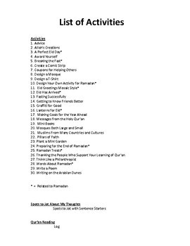 30 + Ramadan Activities - Islam's Holy Month