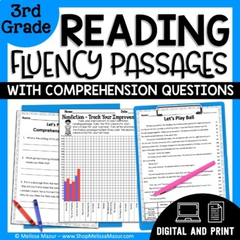 Reading Fluency Passages and Comprehension - 3rd Grade
