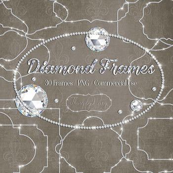 30 Real Diamond Frames Clip Arts Oval Frame Square Frames