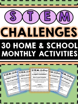 STEM Challenges Bundle - 30 For School or Home {Monthly} R