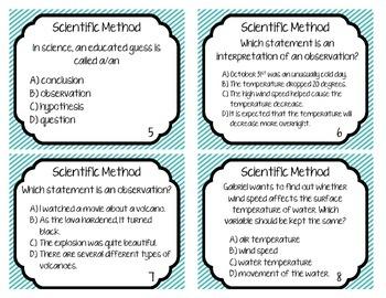 30 Scientific Method Task Cards / Showdown / Scoot