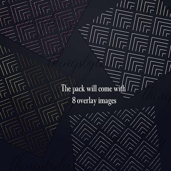 30 Seamless Geometric Art Deco Luxury Pattern Overlay Images