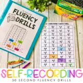 30 Second Fluency Drills {Self-recording}
