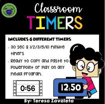 30 second timer by teresa zavaleta teachers pay teachers