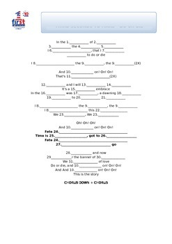 30 Seconds to Mars - Do or Die Song Worksheet